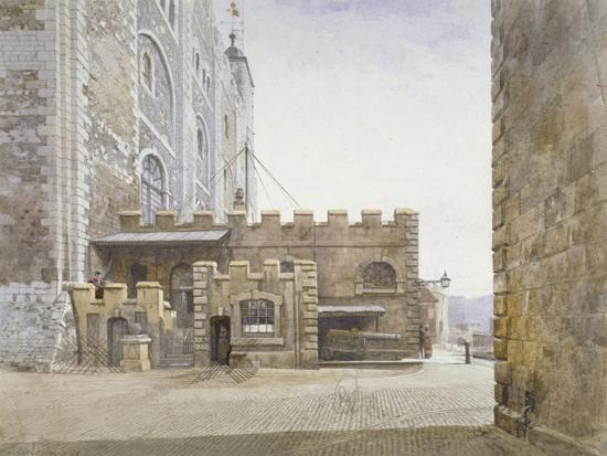 john-crowther-ordnance-office-at-the-bottom-of-the-white-tower-tower-of-london-stepney-london-1883