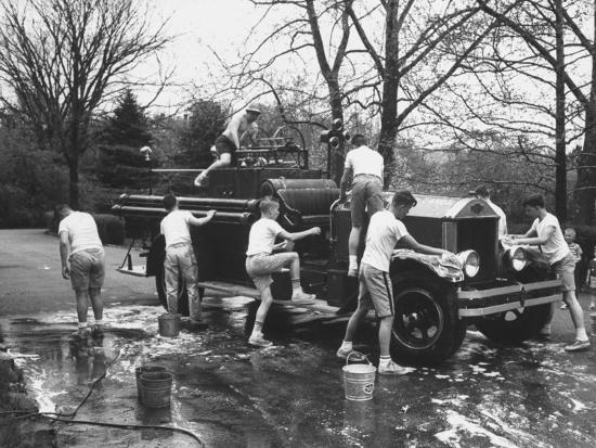 john-dominis-kids-washing-old-fire-truck