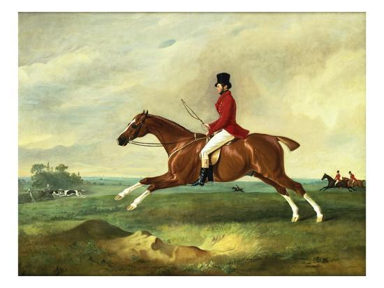 john-e-ferneley-portrait-of-george-payne-of-sulby-on-his-chestnut-hunter-the-clipper-with-the-pytchley-at-full-c