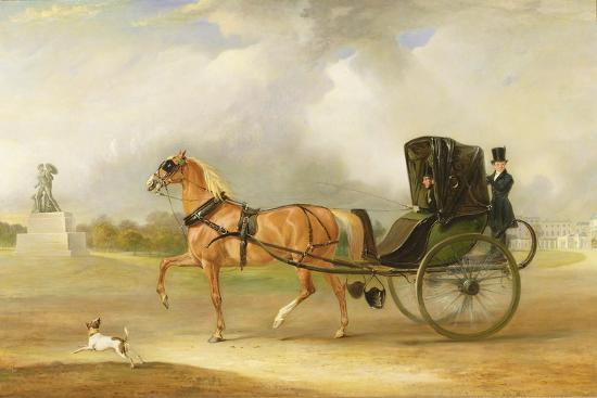 john-e-ferneley-william-massey-stanley-driving-his-cabriolet-in-hyde-park-1833