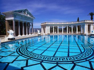 Hearst Castle Outdoor Pool San Simeon California Photographic Print By John Elk Iii At