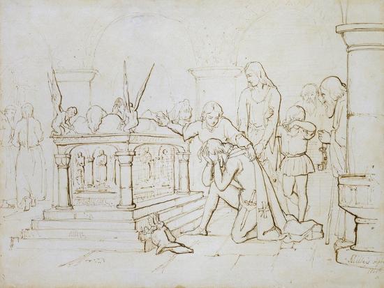john-everett-millais-the-crusader-s-return-1840