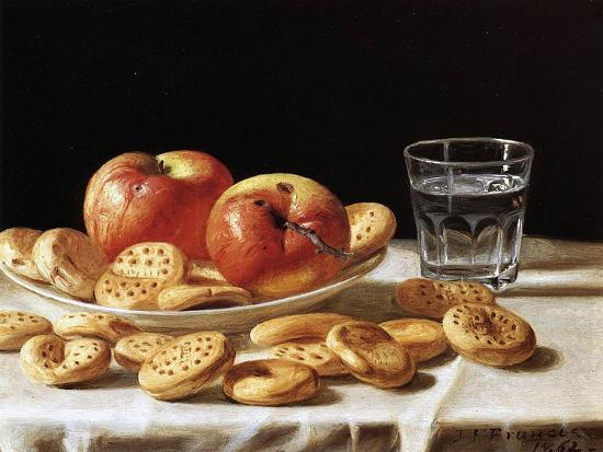 john-f-francis-still-life-with-apples-and-biscuits-1862