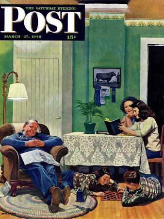 john-falter-after-dinner-at-the-farm-saturday-evening-post-cover-march-27-1948