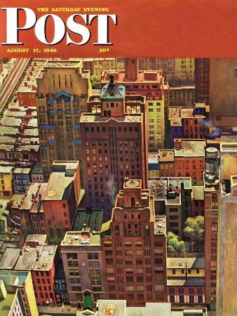 john-falter-bird-s-eye-view-of-new-york-city-saturday-evening-post-cover-august-17-1946
