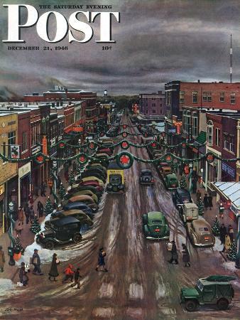 john-falter-falls-city-nebraska-at-christmas-saturday-evening-post-cover-december-21-1946