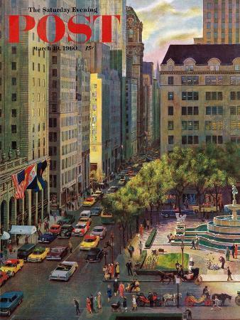 john-falter-fifth-avenue-saturday-evening-post-cover-march-19-1960