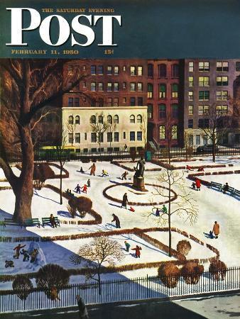 john-falter-gramercy-park-saturday-evening-post-cover-february-11-1950