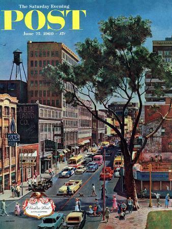 john-falter-peachtree-street-saturday-evening-post-cover-june-25-1960
