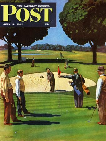 john-falter-sand-trap-saturday-evening-post-cover-july-3-1948
