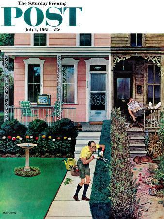john-falter-tidy-and-sloppy-neighbors-saturday-evening-post-cover-july-1-1961