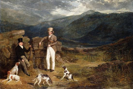 john-frederick-herring-i-two-gentlemen-with-pointers-on-a-grouse-moor-1824