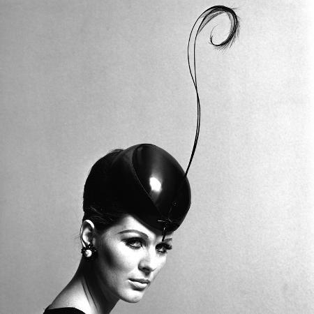 john-french-pillbox-hat-with-feather-1960s