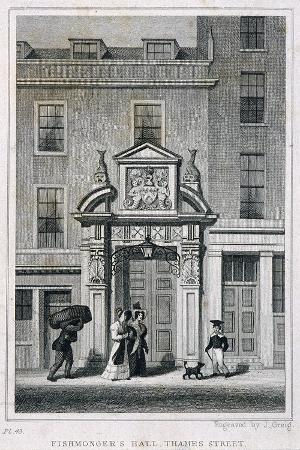 john-greig-fishmongers-hall-thames-street-london-c1835