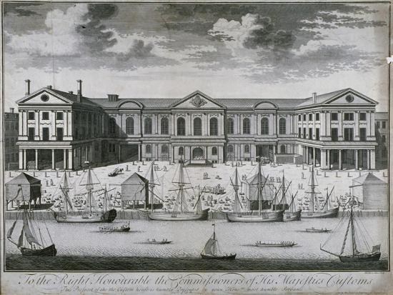 john-harris-the-custom-house-from-the-river-thames-as-it-was-in-1714-1715