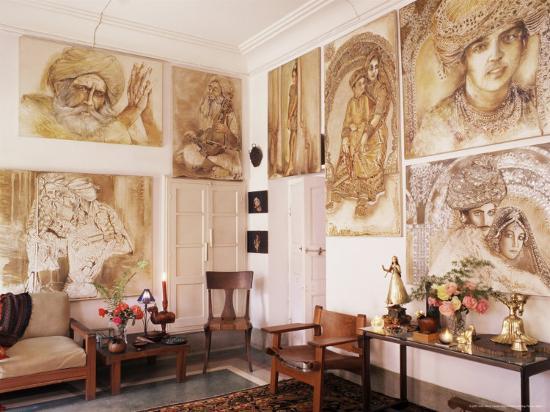 Paintings by Jaya Rastogi Wheaton, in Artist's House in Jaipur ... on grover cleveland house, hubert humphrey house, herbert hoover house, massachusetts house, nelson rockefeller house, andrew johnson house, gerald ford house, martin van buren house, george w. bush house, william mckinley house, william howard taft house, old house, joe biden house, hannibal hamlin house, harry s. truman house, zachary taylor house, aaron burr house,