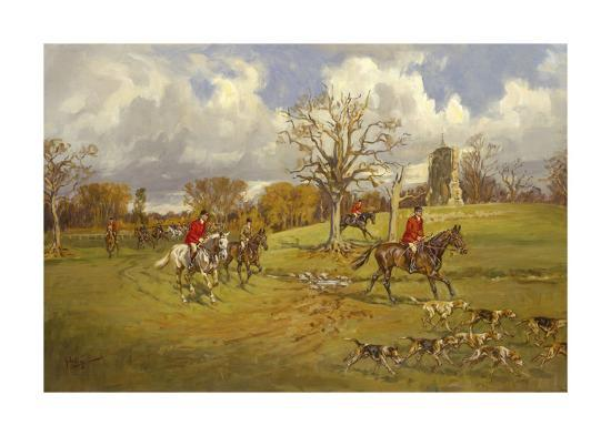 john-king-hunting-below-the-ruins-at-knepp-sussex-castle