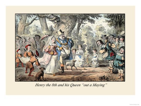 john-leech-henry-viii-and-his-queen-out-a-maying
