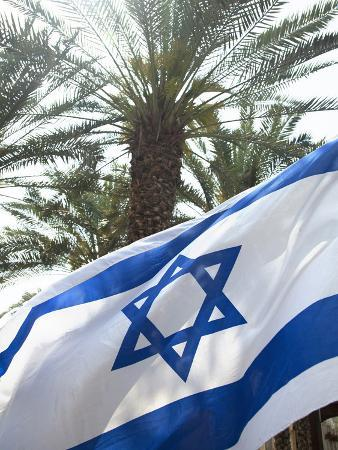 john-lisa-merrill-israeli-flag-with-star-of-david-and-palm-tree-tel-aviv-israel-middle-east