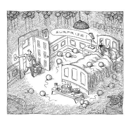 john-o-brien-man-comes-home-to-surprise-party-of-his-wife-sleeping-with-another-man-new-yorker-cartoon