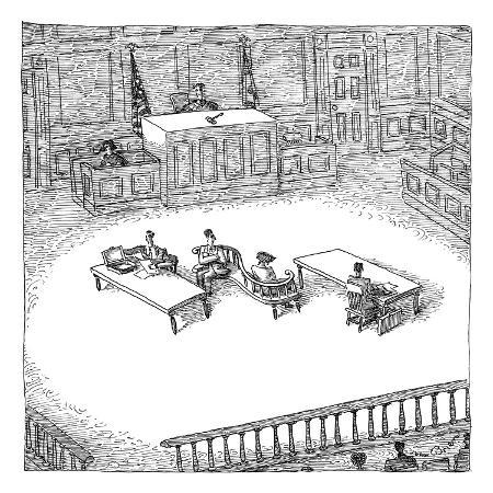 john-o-brien-two-people-sit-on-a-modern-looking-curved-bench-in-the-middle-of-a-court-room-new-yorker-cartoon