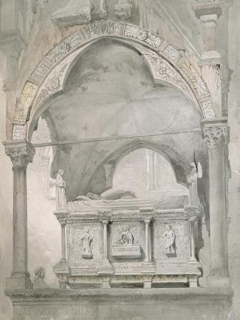 john-ruskin-study-for-detail-of-the-sarcophagus-and-canopy-of-the-tomb-of-mastino-ii-della-scala-at-verona