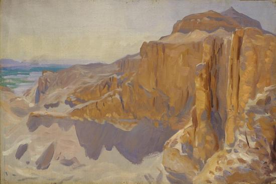 john-singer-sargent-cliffs-at-deir-el-bahri-egypt-1890-91