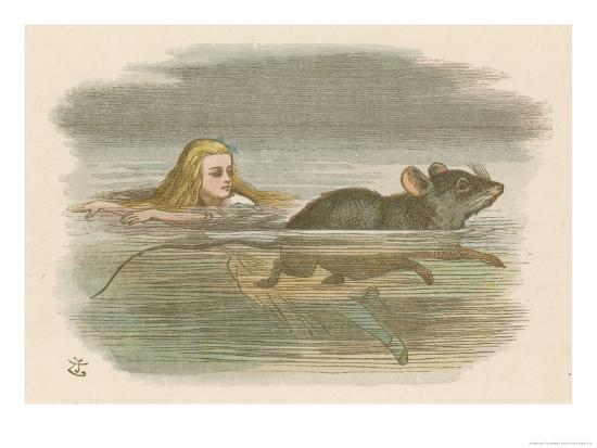 john-tenniel-alice-and-the-pool-of-tears-swimming-in-it-with-a-mouse