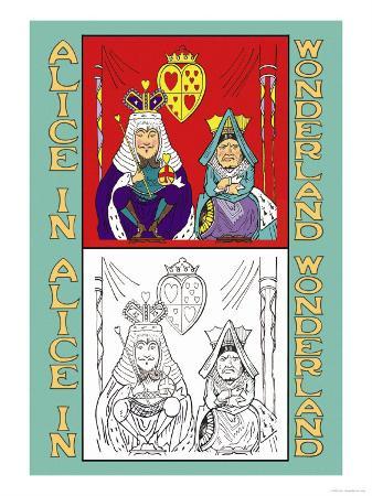 john-tenniel-alice-in-wonderland-king-and-queen-of-hearts