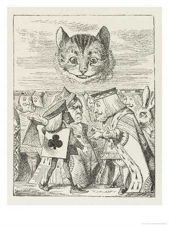 john-tenniel-cheshire-cat-the-king-queen-and-executioner-argue-about-the-chishire-cat-s-head