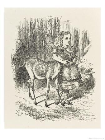 john-tenniel-fawn-alice-and-the-fawn