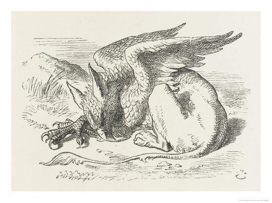 john-tenniel-the-griffin-asleep