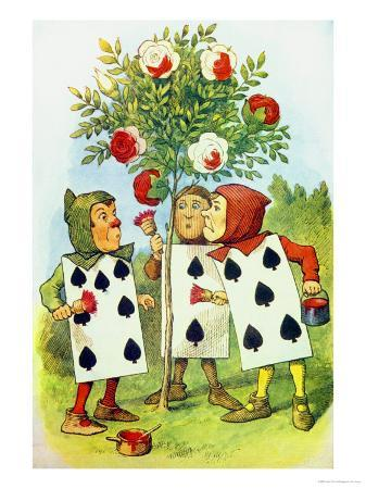 john-tenniel-the-playing-cards-painting-the-rose-bush-illustration-from-alice-in-wonderland-by-lewis-carroll