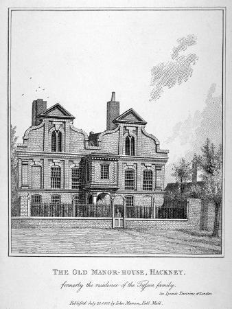 john-thomas-smith-view-of-a-manor-house-on-shacklewell-green-hackney-london-1800