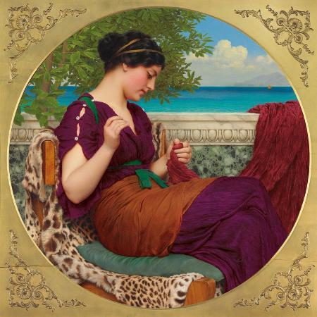 john-william-godward-far-away-thoughts-1911