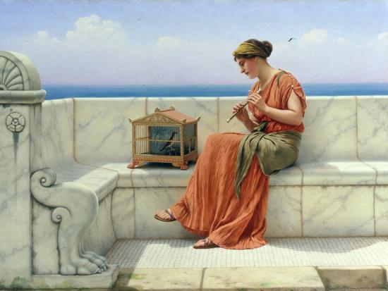 john-william-godward-song-without-words-1918