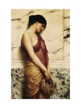john-william-godward-the-tambourine-girl-1906