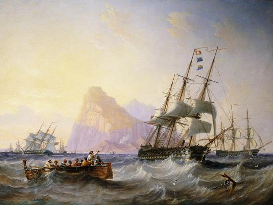 john-wilson-carmichael-british-men-o-war-off-gibraltar-1855