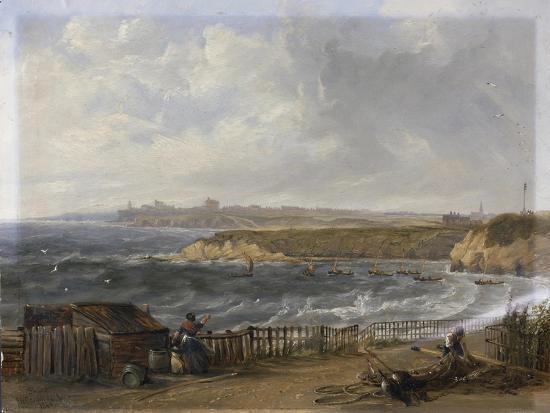john-wilson-carmichael-cullercoats-looking-towards-tynemouth-flood-tide-1845