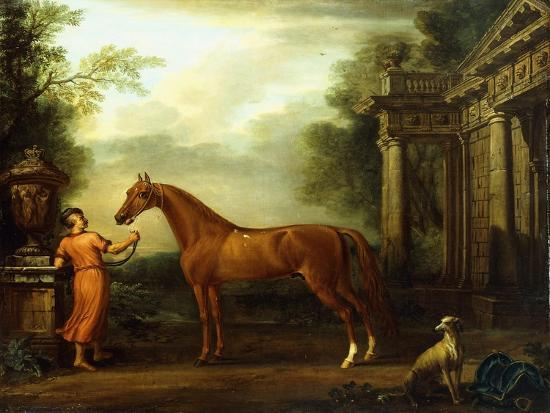 john-wootton-the-chestnut-arabian-of-hampton-court-c-1726