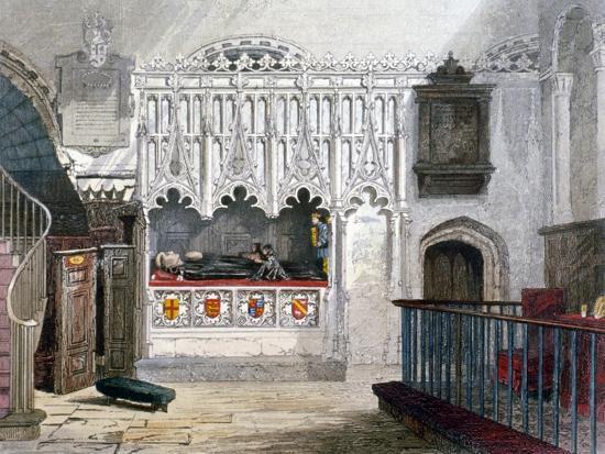john-wykeham-archer-monument-in-the-church-of-st-bartholomew-the-great-smithfield-city-of-london-1851