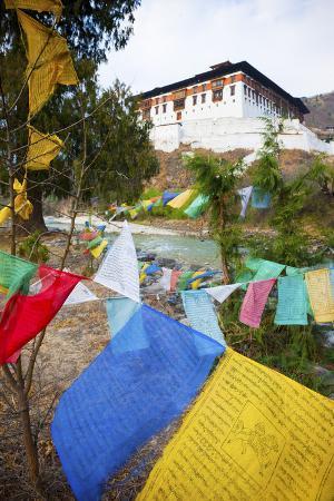 jordan-banks-prayer-flags-and-rinpung-dzong-paro-district-bhutan-asia