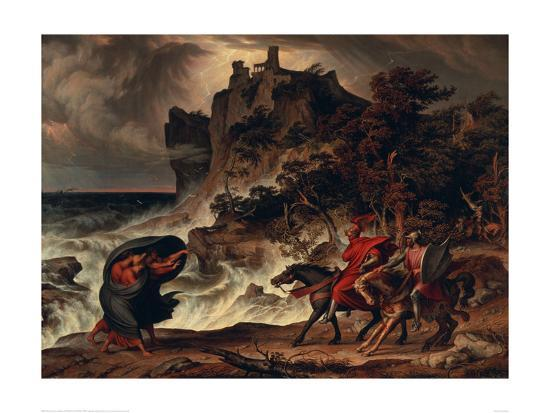 josef-anton-koch-landscape-with-macbeth-and-the-witches-1829