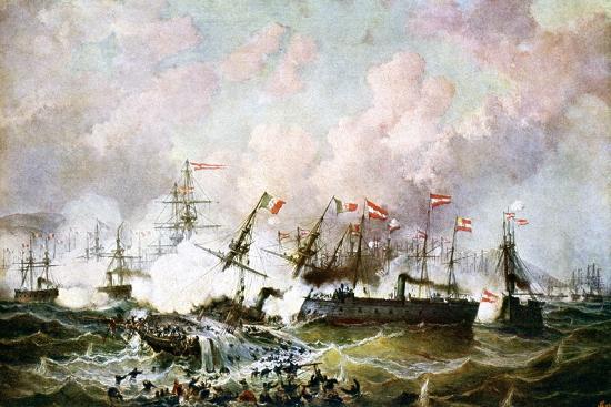 josef-karl-berthold-puttner-naval-battle-between-the-austrian-and-italian-fleets-1866