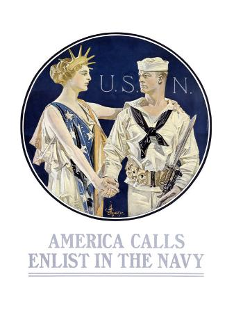 joseph-christian-leyendecker-america-calls-enlist-in-the-navy