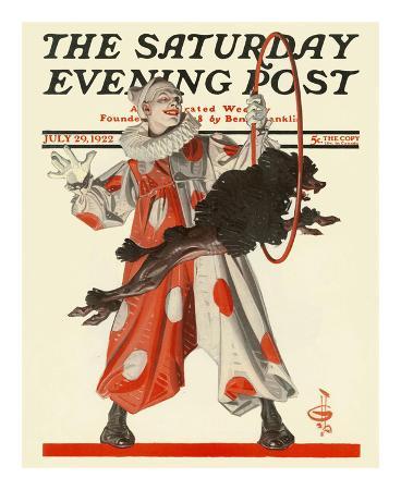 joseph-christian-leyendecker-circus-dog-c-1922