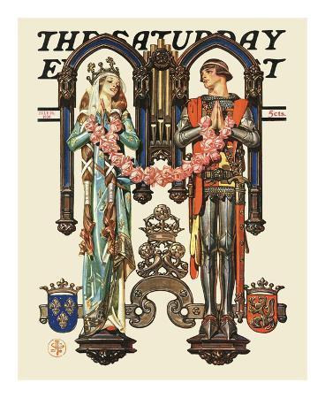 joseph-christian-leyendecker-henry-v-and-his-french-bride-c-1930
