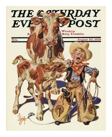 joseph-christian-leyendecker-little-cowboy-takes-a-licking-c-1938