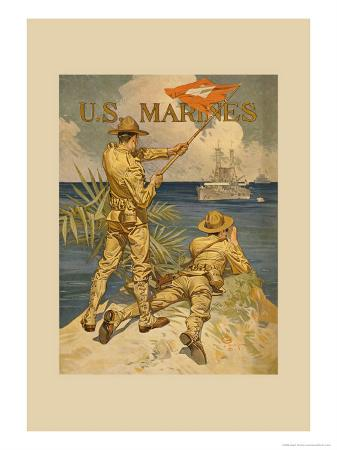 joseph-christian-leyendecker-marines-signaling-from-shore-to-ships-at-sea