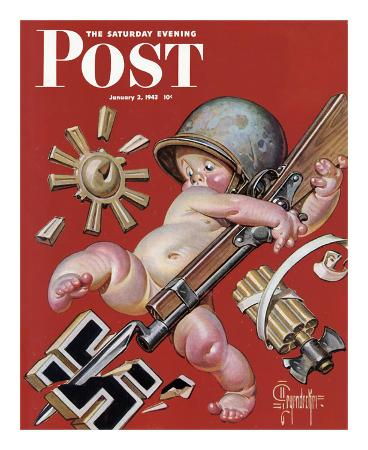 joseph-christian-leyendecker-new-year-s-baby-c-1943-at-war